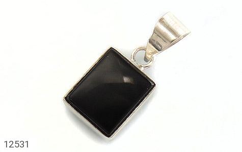 تصویر مدال عقیق سیاه چهارگوش - شماره 1