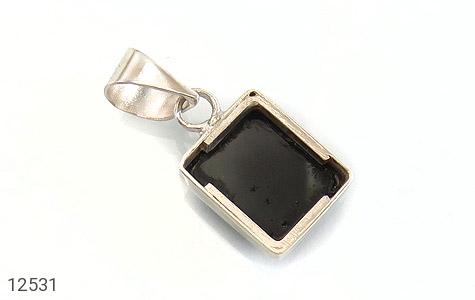 عکس مدال عقیق سیاه چهارگوش - شماره 4