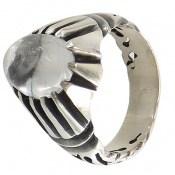 انگشتر نقره در نجف برجسته طرح کلاسیک مردانه