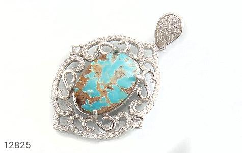 عکس مدال نقره فیروزه نیشابوری درشت طرح لوذا زنانه