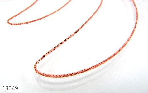 عکس زنجیر نقره ونیزی 45 سانتی مسی