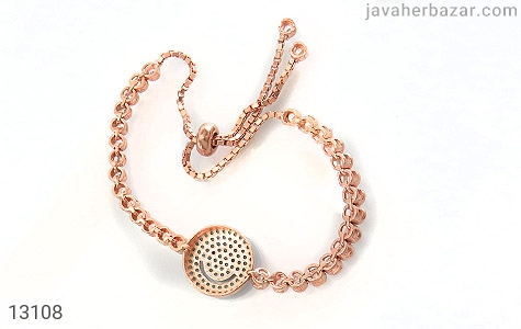 عکس دستبند نقره آسانسوری طرح لبخند زنانه - شماره 3