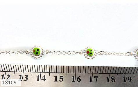 تصویر دستبند نقره میناکاری فانتزی طرح خورشید بچه گانه - شماره 4