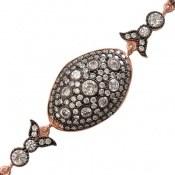 دستبند نقره مجلسی طرح آنیتا زنانه