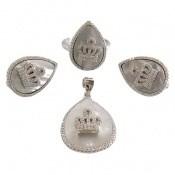 سرویس نقره صدف اشکی طرح سلطنتی زنانه