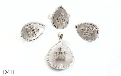 عکس سرویس نقره صدف اشکی طرح سلطنتی زنانه