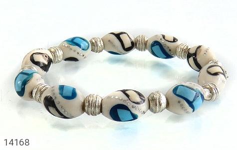 عکس دستبند استخوان مرصع زنانه - شماره 2