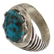 انگشتر نقره فیروزه نیشابوری مردانه