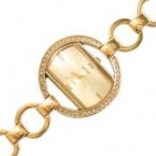 ساعت اسپریت مجلسی پرنگین بند حلقهای طلائی زنانه Esprit