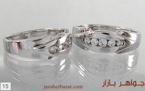 حلقه ازدواج نقره آب رودیوم - 15