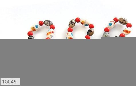 عکس دستبند استخوان و عقیق شجری زنانه - شماره 2
