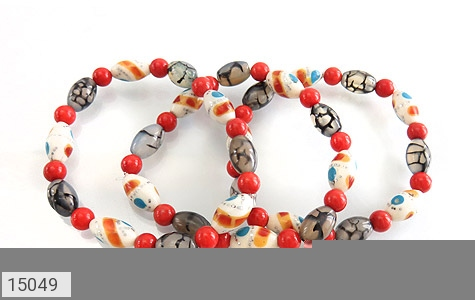 عکس دستبند استخوان و عقیق شجری زنانه - شماره 3