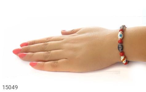تصویر دستبند استخوان و عقیق شجری زنانه - شماره 5