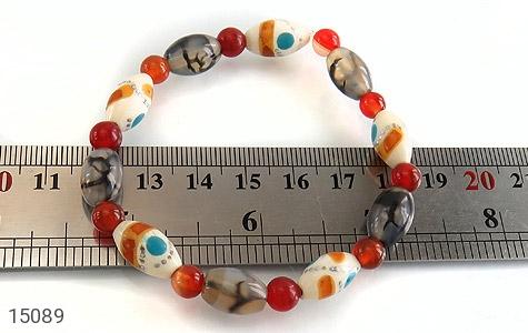 عکس دستبند استخوان و عقیق شجر زیبا زنانه - شماره 4
