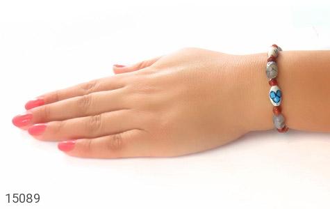 عکس دستبند استخوان و عقیق شجر زیبا زنانه - شماره 5