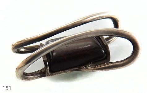 مدال نقره کهربا طرح پیچ - 151