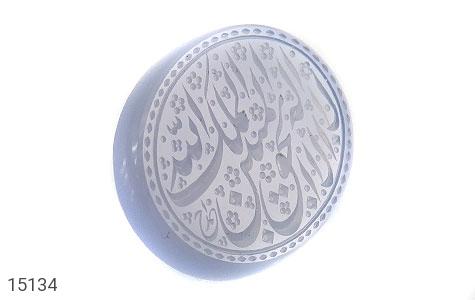 عکس نگین تک عقیق یمن کبود حکاکی لااله الا الله الملک الحق المبین