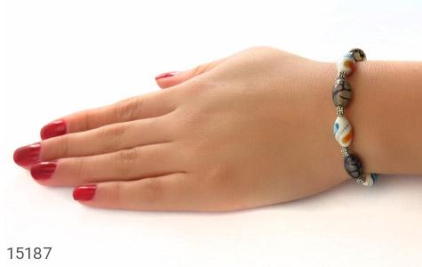 عکس دستبند استخوان و عقیق جذاب زنانه - شماره 5