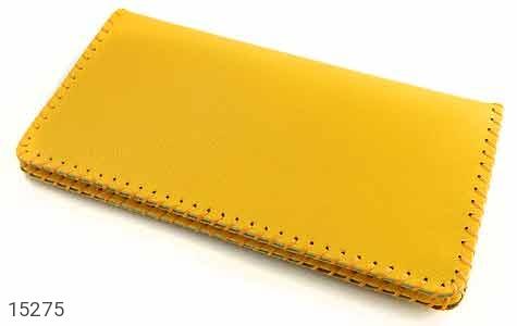 کیف چرم طبیعی زرد جذاب زنانه - 15275