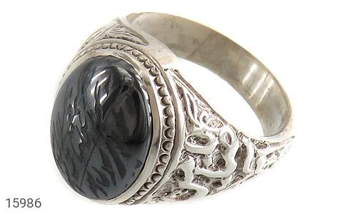 عکس انگشتر نقره حدید سینی هفت جلاله رکاب یا ضامن آهو مردانه