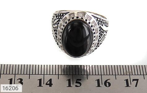 عکس انگشتر عقیق سیاه طرح ستار مردانه - شماره 6