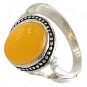 انگشتر نقره عقیق زرد شرف الشمس طرح مهدیار مردانه