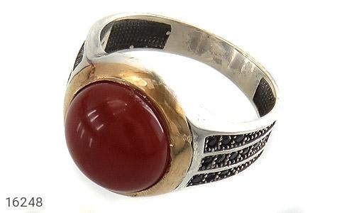 انگشتر نقره عقیق قرمز طرح ارشیا مردانه - 16248