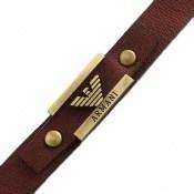 دستبند چرم طبیعی بند دکمهای طرح اسپرت