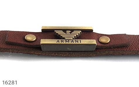 تصویر دستبند چرم طبیعی بند دکمهای طرح اسپرت - شماره 2