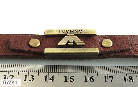 عکس دستبند چرم طبیعی بند دکمهای طرح اسپرت - شماره 6