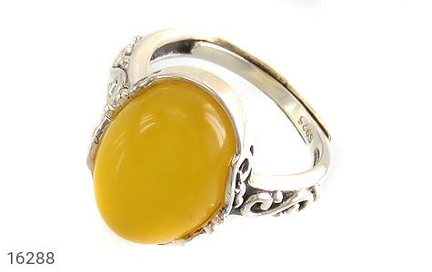 انگشتر نقره عقیق زرد طرح یگانه زنانه - 16288