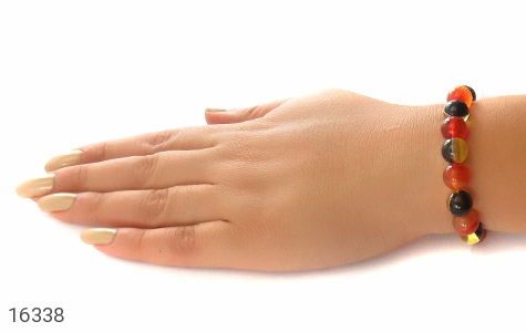عکس دستبند عقیق و کهربا پودری زنانه - شماره 5