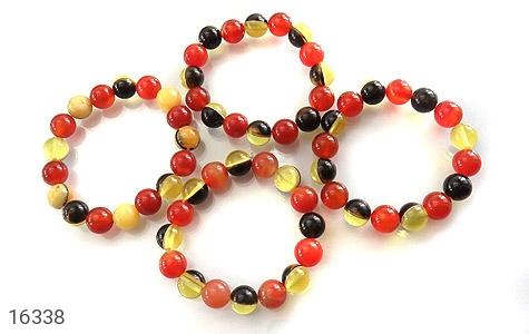 عکس دستبند عقیق و کهربا پودری زنانه - شماره 6