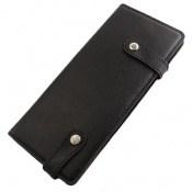 کیف چرم طبیعی دسته چک طرح دکمه دار