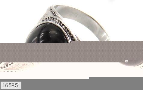 عکس انگشتر عقیق سیاه طرح افخم مردانه