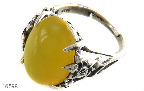عکس انگشتر عقیق زرد شرف الشمس رکاب فری سایز زنانه