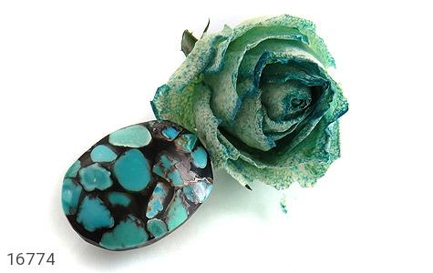 عکس نگین تک فیروزه ترکیبی درشت - شماره 4