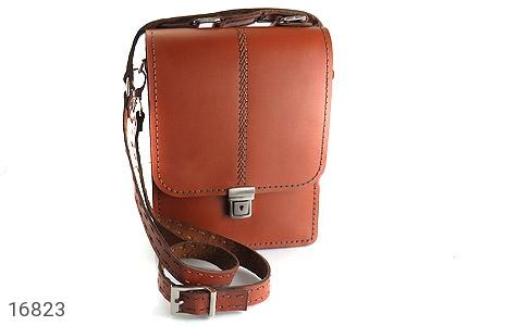 تصویر کیف چرم طبیعی بنددار طرح اداری - شماره 1