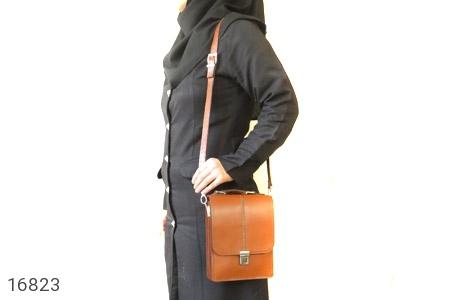 عکس کیف چرم طبیعی بنددار طرح اداری - شماره 11