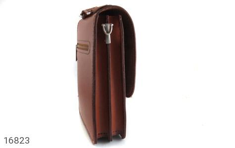 عکس کیف چرم طبیعی بنددار طرح اداری - شماره 2