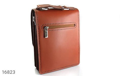 عکس کیف چرم طبیعی بنددار طرح اداری - شماره 3