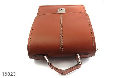 تصویر کیف چرم طبیعی بنددار طرح اداری - شماره 4