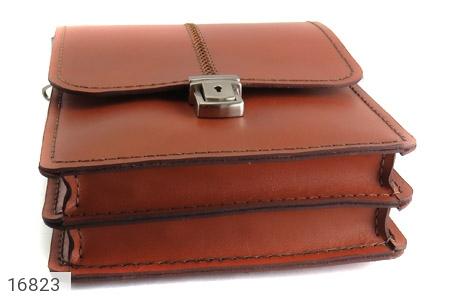 تصویر کیف چرم طبیعی بنددار طرح اداری - شماره 5