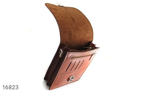 عکس کیف چرم طبیعی بنددار طرح اداری - شماره 7