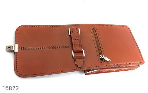 عکس کیف چرم طبیعی بنددار طرح اداری - شماره 8