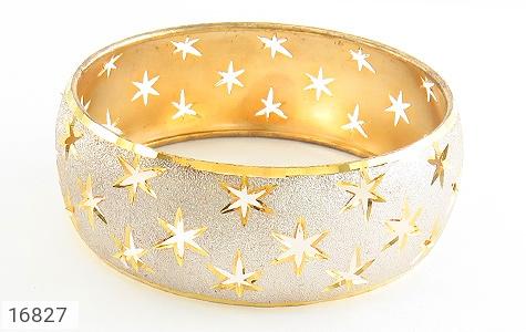 تصویر النگو نقره تک پوش طرح ستاره سایز 3 زنانه - شماره 2
