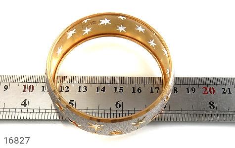 عکس النگو نقره تک پوش طرح ستاره سایز 3 زنانه - شماره 5