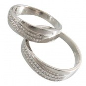 حلقه ازدواج نقره طرح جمیل