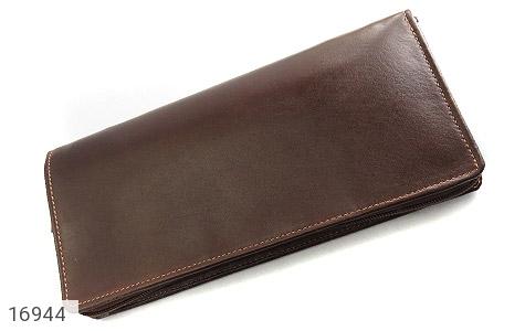 عکس کیف چرم طبیعی دسته چک زیپ دار