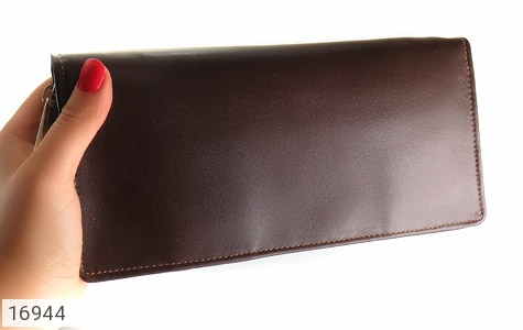 عکس کیف چرم طبیعی دسته چک زیپ دار - شماره 10